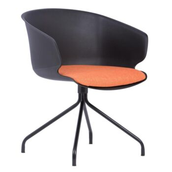 Gell Conference Office Visitor Arm Chair - Black
