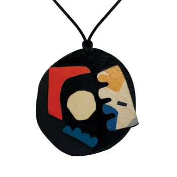 Abstract pendant on black