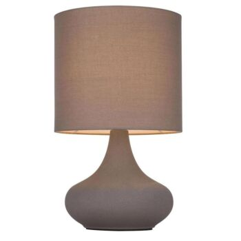 Amy Modern Touch Table Lamp Large Metal Base - Grey Shade