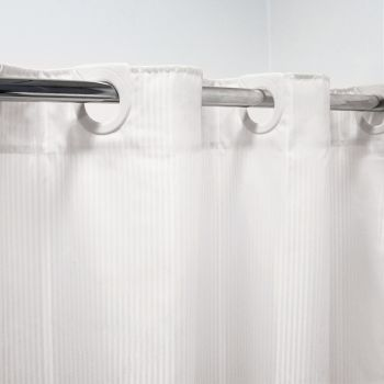 Polyester Shower Curtain 180cm x 180cm White