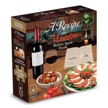 """A Recipe for Murder Classic Mystery Jigsaw Puzzle 8 x 8"""""""
