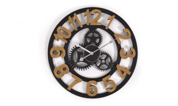 Vintage and Chic Luxurious Metal Wall Clock in Gold