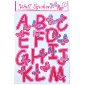 Rainbow Butterfly Alphabet Wall Decals - Pack Size 3