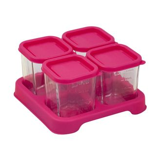 Fresh Baby Food Glass Cubes (4oz/4pk)-Pink-Adult use only