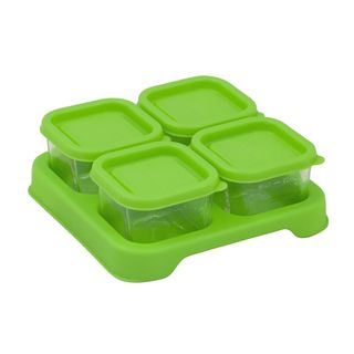 Fresh Baby Food Glass Cubes (2oz/4pk)-Green-Adult use only