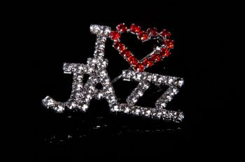 I Love Jazz Brooch