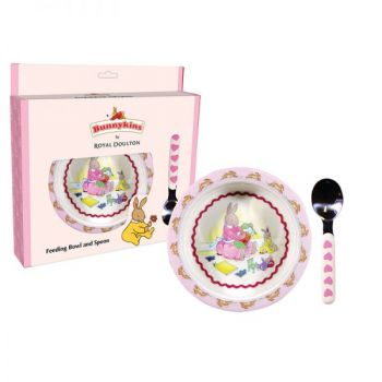 Bunnykins Feeding Bowl & Spoon - Sweethearts