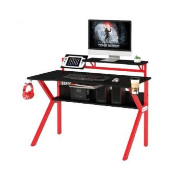 Atour Redline Office Computer Desk Study Gaming Table - Black & Red