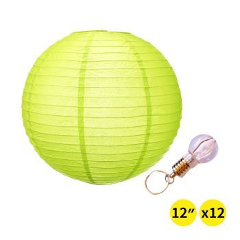 """12"""" Paper Lanterns for Wedding Party -Lime  Colour"""