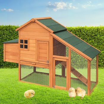 i.Pet Wooden Chicken Coop Coops Extra Large XL 171cm Length Outdoor Waterproof Hen Chook House Cage Metal Run With Nesting Box Rabbit Hutch