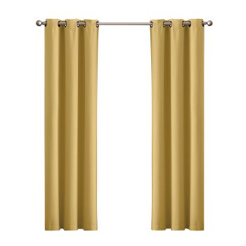 DreamZ Blackout Curtain Eyelet 102x160cm in Mustard