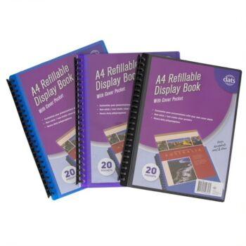 Display Book A4 Assorted Coloursours 20 Page