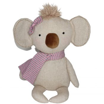 Plush Toy Koala - Pink Scarf