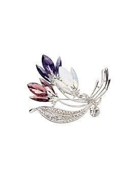 Barcs Australia Floral Spray Women's Silver Plated Brooch