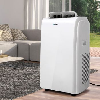 Devanti 22000BTU Reverse Cycle Portable Air Conditioner Mobile Fan Cooler Dehumidifier 4In1 Remote Control RC Swing 2 Speed Fans