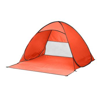 Mountview Pop Up Portable 4 Person Beach Tent in Orange Colour
