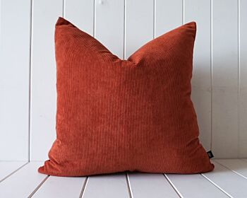 Indoor Cushion - Feather Insert - Rust Corduroy - 50x50