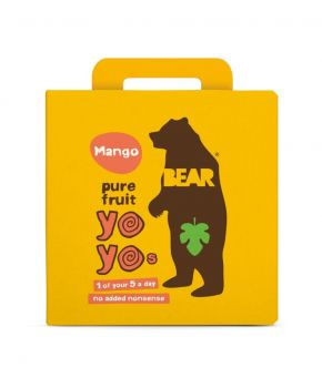 BEAR Fruit Rolls Mango 5 x 100g - Healthy Fruit snacks