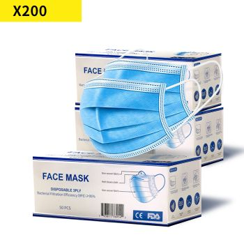 Face Mask Filter Disposable Masks Anti Dust PM2.5 Respirator Air Pollution x200