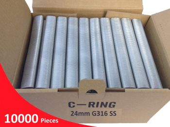 Hog Ring Staples C24 1.4mm G316 Stainless Steel
