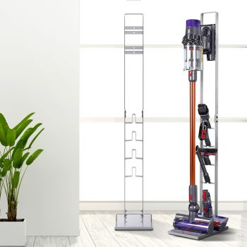 Freestanding Dyson Vacuum Stand Rack Holder Docking Accessories Handheld Vacuum Cleaner Cordless Stick Handstick Bagless For Dyson V6 7 8 V10 V11 Silver