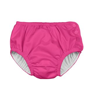 Snap Reusable Absorbent Swimsuit Diaper-Hot Pink
