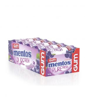 Mentos Pure Fresh Chewing Gum, Grape 30g