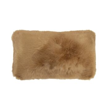 Faux Fur Cushion 30x50cm Butterscotch