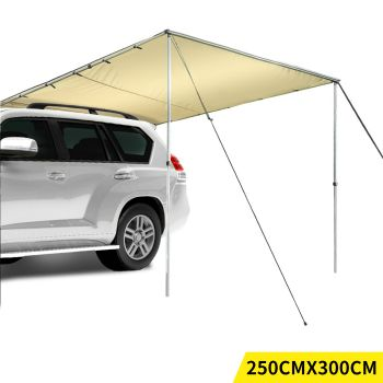 Mountview 4WD Car Waterproof Awning Roof 2.5x3M in Khaki Colour