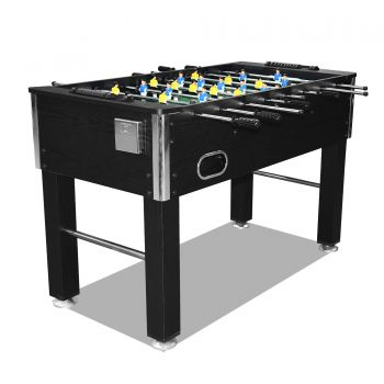 4FT Soccer Foosball Table Heavy Duty for Pub Game Room with Drink Holders, Black