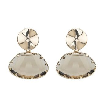 Amelie Stone and Thread Earrings