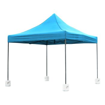 Mountview Pop Up Gazebo Canopy 3x3M & Base Pods in Skyblue Colour