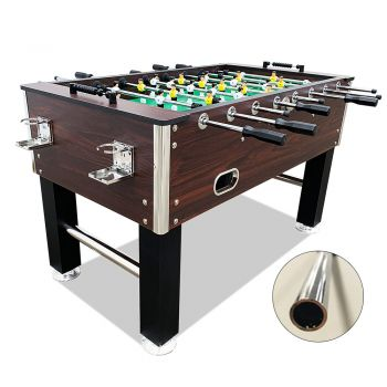 5FT Foosball Soccer Table with Hollow Steel Rods Coffee