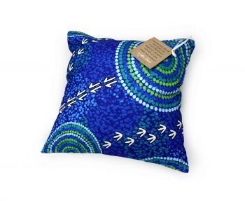 Cushion Aboriginal Design - Wet Design - Luther Cora