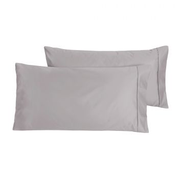 Dreamaker Cotton Sateen 1000TC king pillowcase Twin Pack Platinum