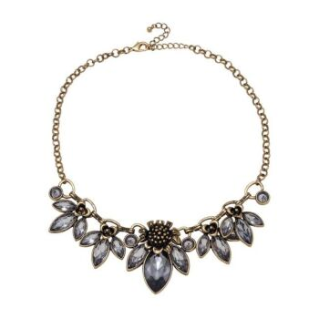 Amelie Flower and Stone Statement Necklace