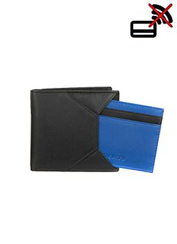 Two Colour Leather Wallet with Removable Card Holder