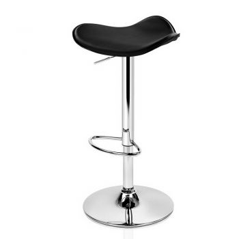Artiss 4x Kitchen Bar Stools Swivel Bar Stool Leather Gas Lift Chair Black