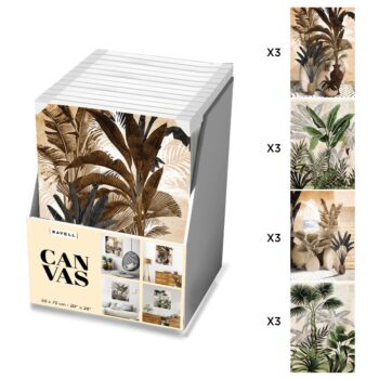 12 Piece Boxed Artwork -  Tropical Collection - 50x70