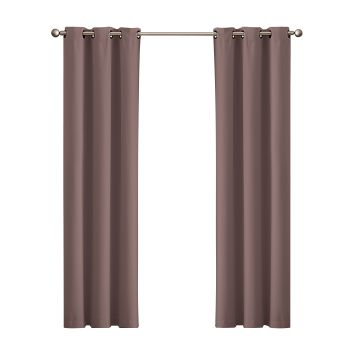DreamZ Blackout Curtain Eyelet 102x160cm in Taupe
