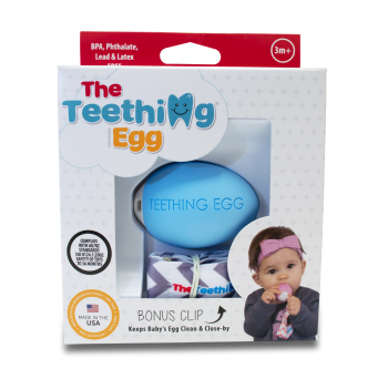 The Teething Eggs Blue