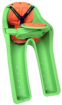 WeeRide IBert Safety Kids Infant Toddler Baby Front Bike Seat - Green - Cross Bar Mounted - 1-4 years - Harness Straps Carrier