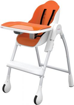 Oribel Cocoon High Chair Dining For Infant Toddler in Orange