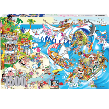 Paradise Island 1500 Piece Jigsaw Puzzle Time To Relax And Have Some Fun!
