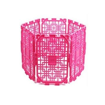 Floofi 7 Panel Pet Dog Playpen Foldable Puppy Exercise Cage Play Pen - Blue / Purple / Pink Fence