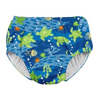 Snap Reusable Absorbent Swimsuit Diaper-Royal Blue Turtle Journey