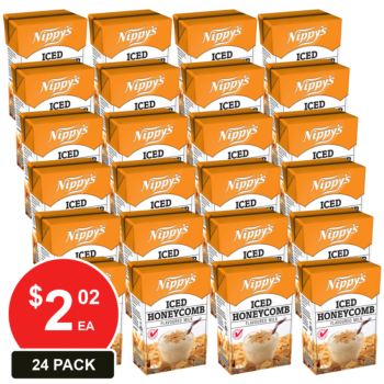24 Pack, Nippy's 375ml Iced Honeycomb Flavoured Milk