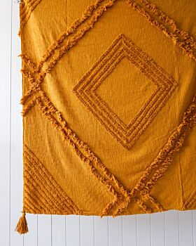 Throw Blanket - Burleigh - Ochre - 125x150