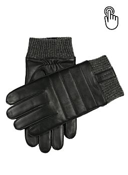Men's Water Resistant Touchscreen Leather Gloves