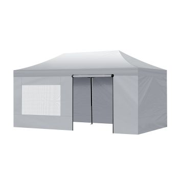 3 x 6 Mountview Gazebo Side Wall Canopy Mesh in Silver Colour